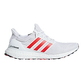 9c23e999eecc97 adidas Men s Ultra Boost Running Shoes - White Red