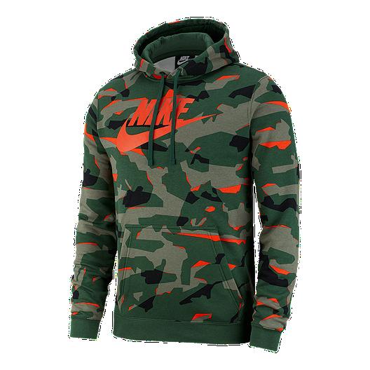 1089be41c237 Nike Sportswear Men s Club Camo Pullover Hoodie