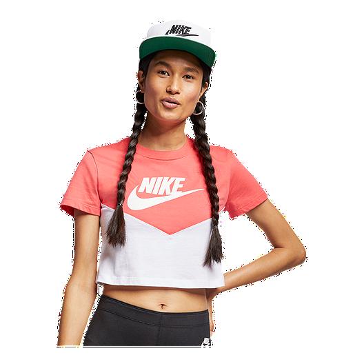 01dc2d5826497 Nike Sportswear Women's Heritage Crop T Shirt