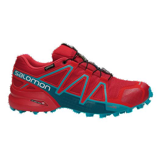aff073ed6f639 Salomon Women s Speedcross 4 GTX Trail Running Shoes - Red Blue ...
