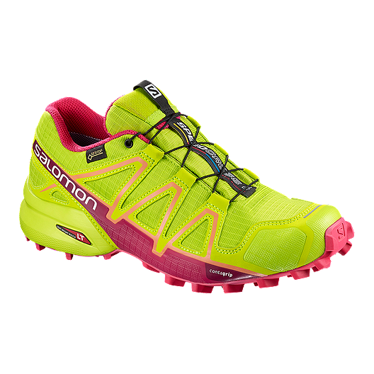 9c92b64ebcc0 Salomon Women s Speedcross 4 GTX Trail Running Shoe - Lime Green ...