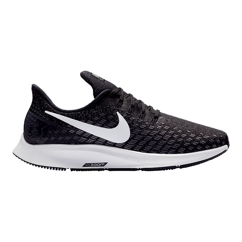 82637dff9cbe Nike Women s Air Zoom Pegasus 35 Wide Running Shoes - Black White  (666032882795)