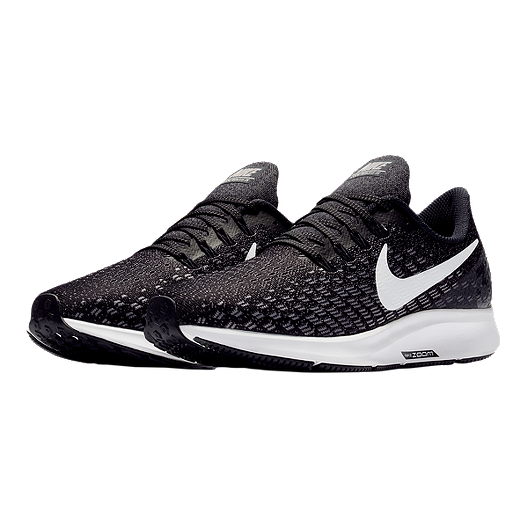 best website 1c9c1 45113 Nike Women's Air Zoom Pegasus 35 Wide Running Shoes - Black/White