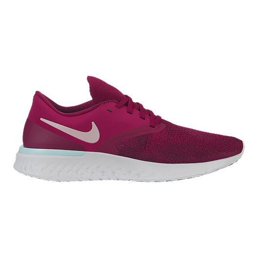77a901eb3584 Nike Women s Odyssey React 2 Flyknit Running Shoes - Raspberry Red ...