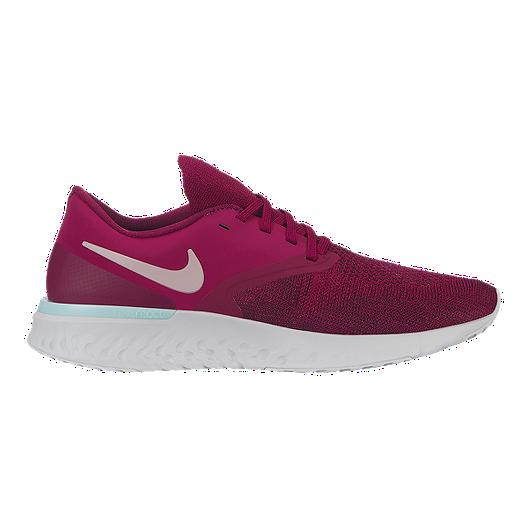 faf138457b0d0 Nike Women s Odyssey React 2 Flyknit Running Shoes - Raspberry Red ...