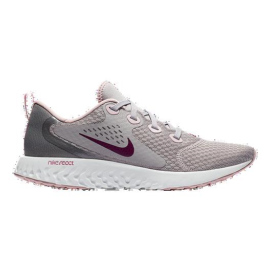 815fa3f3385e Nike Women s Legend React Running Shoes - Grey Pink