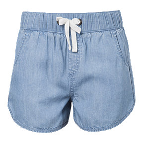 Ripzone Girls' Kaya Chambray Short - Light Blue
