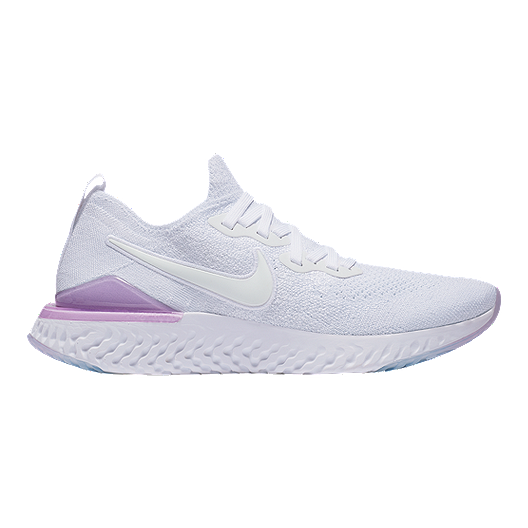 78c95d185 Nike Women's Epic React Flyknit 2 Running Shoes - White/Pink | Sport Chek