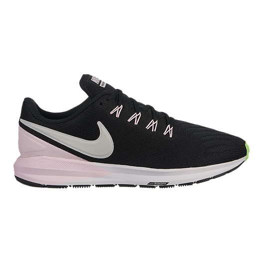 57aa3d3b9 Nike Women s Air Zoom Structure 22 Running Shoes - Black Vast Grey ...