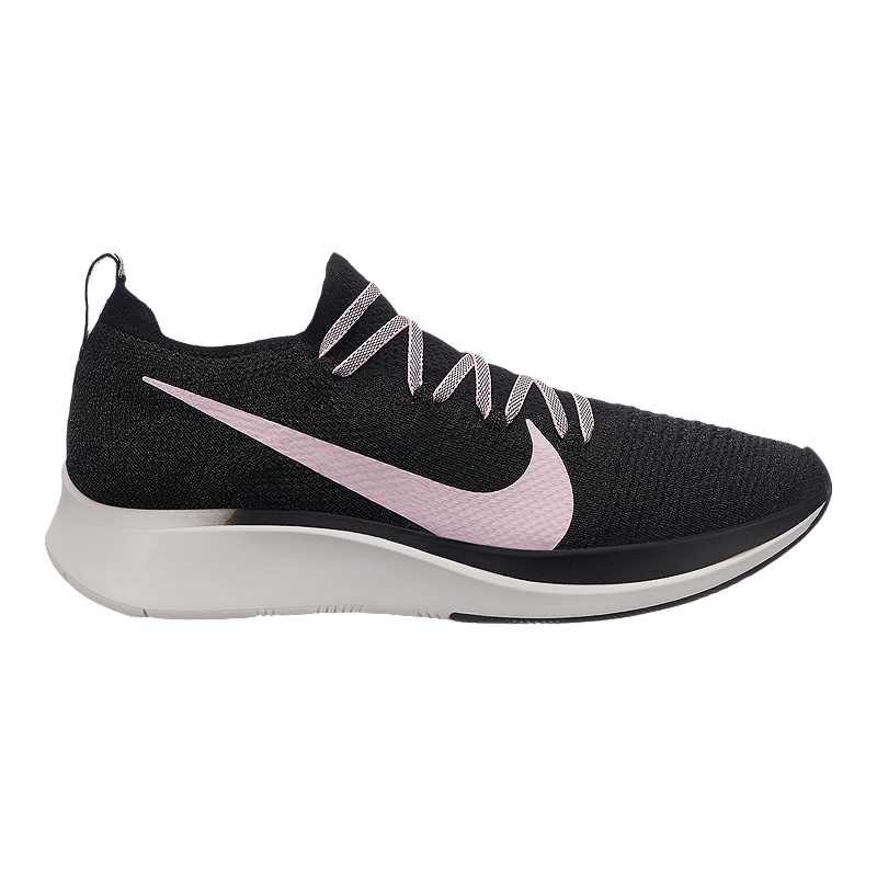 the latest 681bf 3b43b Nike Women s Zoom Fly Flyknit Running Shoes - Black Pink Grey   Sport Chek