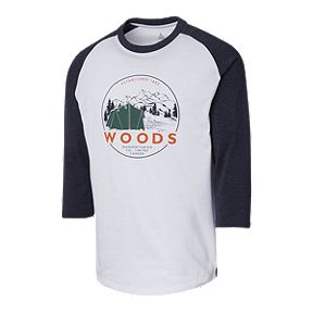 2ddadcd38d4865 Woods Men s Hector Crew Baseball Shirt - Peacoat