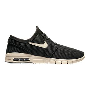 Nike Men s Stefan Janoski Max Air Shoes - Black Cream 221facb47