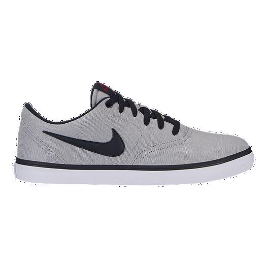 00130c0b4423 Nike Men s SB Check Solarsoft Canvas Shoes - Grey Black