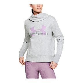 fb36ef59e Under Armour Women's Rival Fleece Pullover Hoodie - Mod Grey