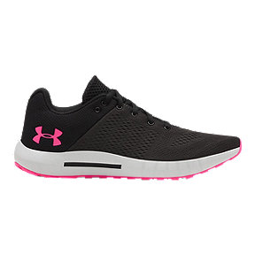 Under Women's Armour Micro G Pursuit Running Shoes - Black/Pink