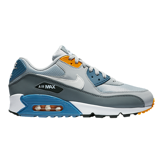sneakers for cheap 10c7f f3158 Nike Men s Air Max 90 Essential Shoes - Wolf Grey White Indigo - WOLF