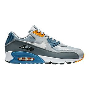8d2ee915653a Nike Men s Air Max 90 Essential Shoes - Wolf Grey White Indigo