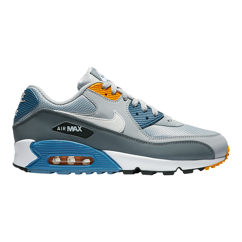 373b2837350 Nike Men s Air Max 90 Essential Shoes - Wolf Grey White Indigo ...