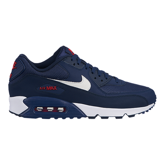 d2e55c4bcc Nike Men's Air Max 90 Essential Shoes - Midnight Navy/White/University Red  | Sport Chek