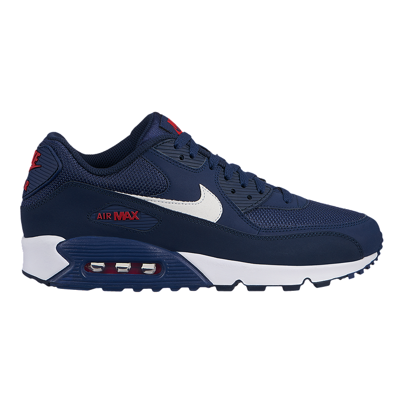 half off f4080 17136 Nike Men s Air Max 90 Essential Shoes - Midnight Navy White University Red    Sport Chek