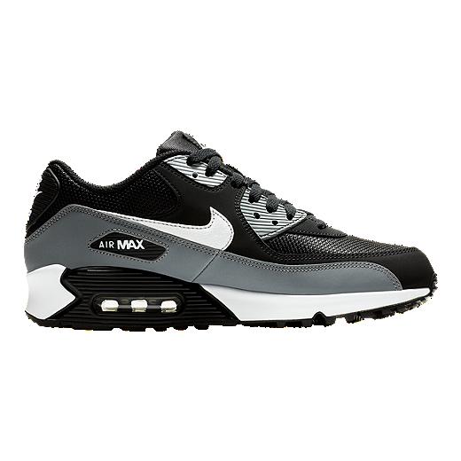 Nike Men's Air Max 90 Essential Shoes BlackWhiteWolf Grey