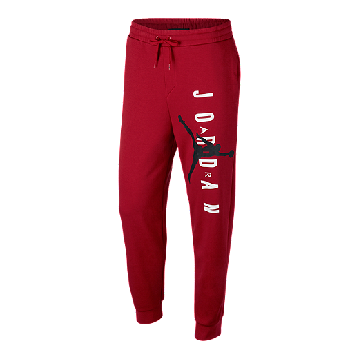 cc3d3c45724 Nike Men's Jordan Jumpman Air Fleece Pants - GYM RED/BLACK