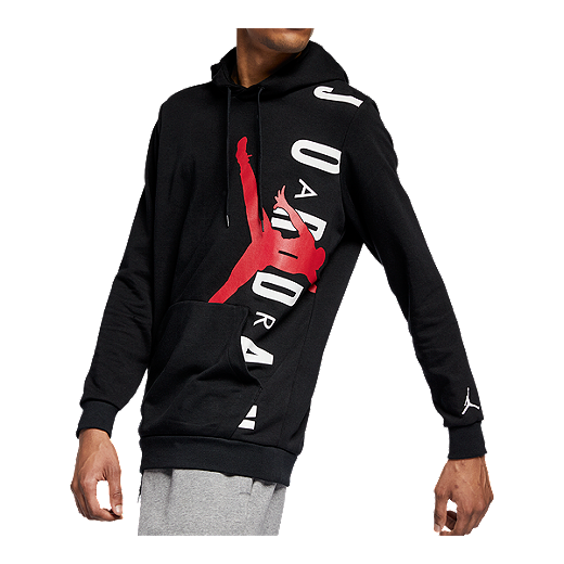 1657b0f4ff3 Nike Men's Jordan Jumpman Air Pullover Hoodie - BLACK/GYM RED