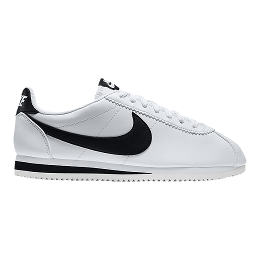 watch 3de37 ddf1b Nike Women s Cortez Leather Shoes - White Black - WHITE BLACK WHITE
