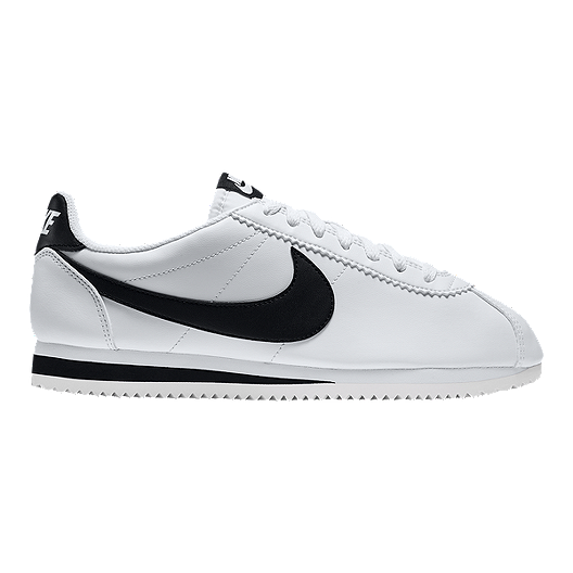 eda36a90b Nike Women's Cortez Leather Shoes - White/Black | Sport Chek