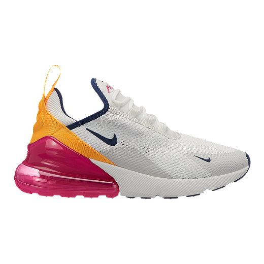 pretty nice f2ee6 64ca5 Nike Women s Air Max 270 Shoes - Summit White Navy Fuchisia - SUMMIT WHITE