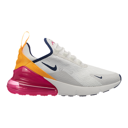 size 40 b960f cce43 Nike Women's Air Max 270 Shoes - Summit White/Navy/Fuchisia