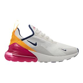 new style 7c35c 18588 Nike Women s Air Max 270 Shoes - Summit White Navy Fuchisia