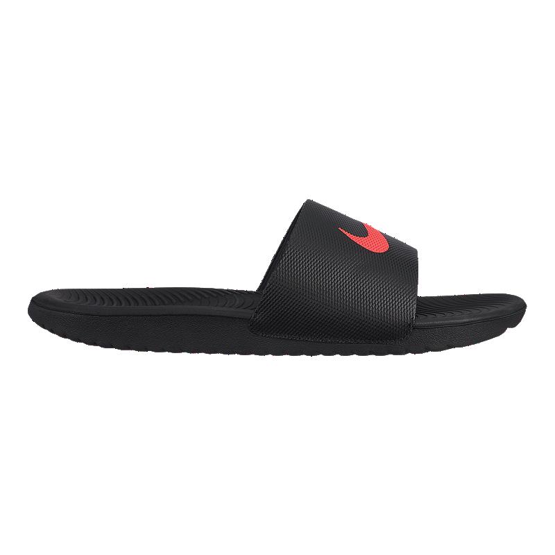 2aee1cbd814d0e Nike Men s Kawa Slide Sandals - Black Red