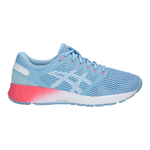 96430e32 ASICS Women's Roadhawk FlyteFoam 2 Running Shoes - Skylight/White