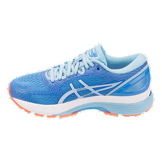 promo code e525f c76cc ASICS Women's Gel Nimbus 21 Running Shoes - Blue/White