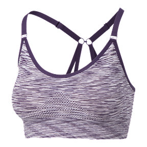Diadora Women's Seamless Strappy Low Padded Sports Bra - Petunia