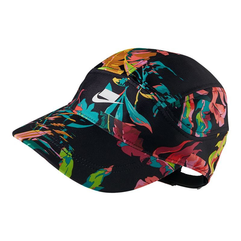 c3053bf249a Nike Women s Tailwind Run Hat - Black Floral (887231970155) photo