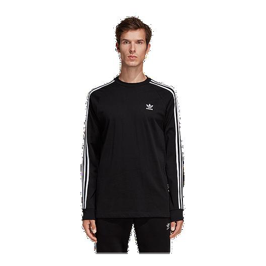 15b0ec297 adidas Originals Men s 3 Stripe Long Sleeve Shirt