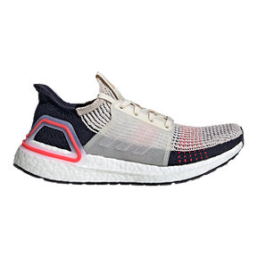 adidas Women's Ultraboost 19 Running Shoes - Brown/White/Shock Red