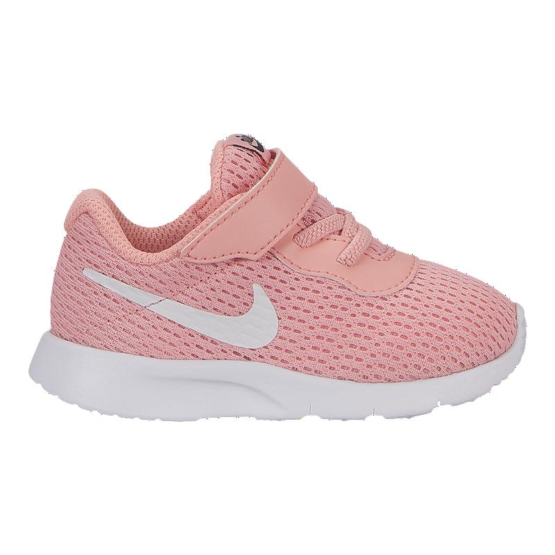 good looking cheap price shop Nike Girl Toddler Tanjun Shoes - Bleached Coral/White/Black