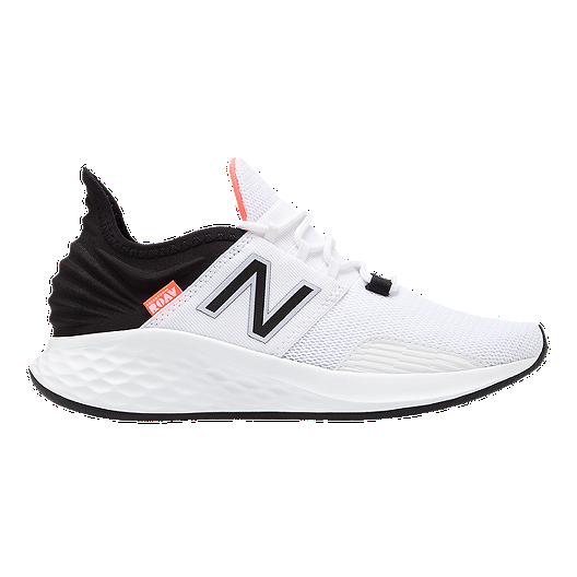 9515cd947 New Balance Women s Fresh Foam ROAV V1 Running Shoes - White Black ...