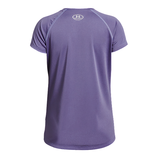 adc09bbc Under Armour Girls' Solid Big Logo Short Sleeve Tee | Sport Chek