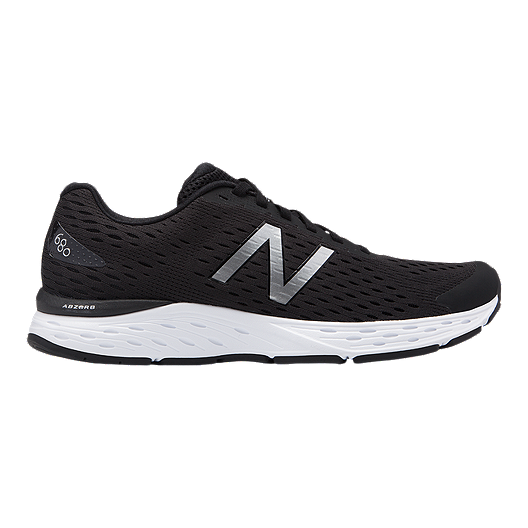 3cc88cb9b0a New Balance Men s M680 V6 4E Running Shoes - Black Silver