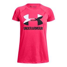 ff60d9d01aa27 Under Armour Girls  Solid Big Logo Tee - Penta Pink