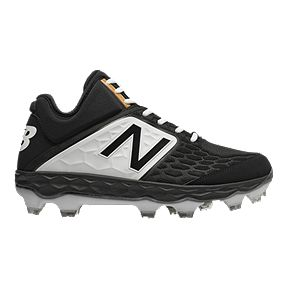 New Balance Men s PM3000 V4 D Mid TPU Baseball Cleats - Black White be0e5277003