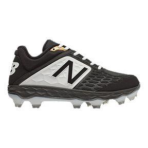 8a20f8ed6bb15 New Balance Men's PL3000V4 D Low TPU Baseball Cleats - Black/White