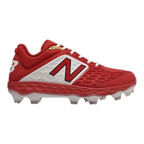 super popular 45043 9d15d New Balance Men s PL3000 V4 D Low TPU Baseball Cleats - Red White