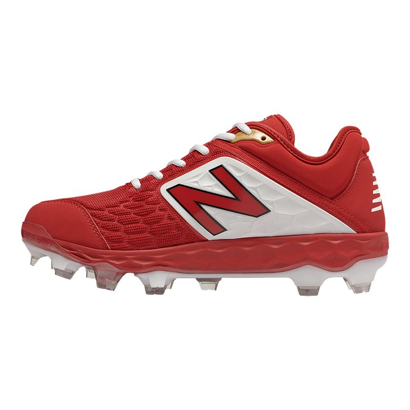 63bc8418e048 New Balance Men's PL3000 V4 D Low TPU Baseball Cleats - Red/White  (191902994945