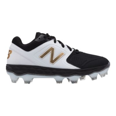black and gold new balance baseball cleats