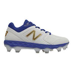 9001234fa New Balance Women s FF Velo 1 TPU Baseball Cleats - White Blue